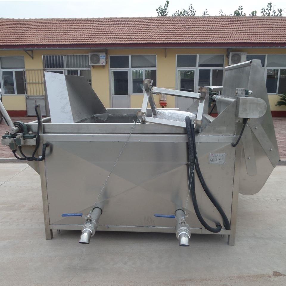 商用大型油炸锅长方形自动出料