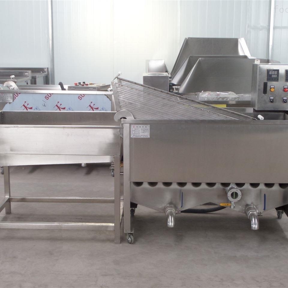 全自动大型高效控温猪皮油炸机
