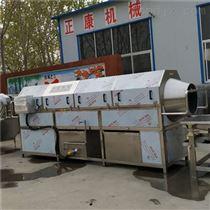 滚筒式食品包装袋热水喷淋洗袋机