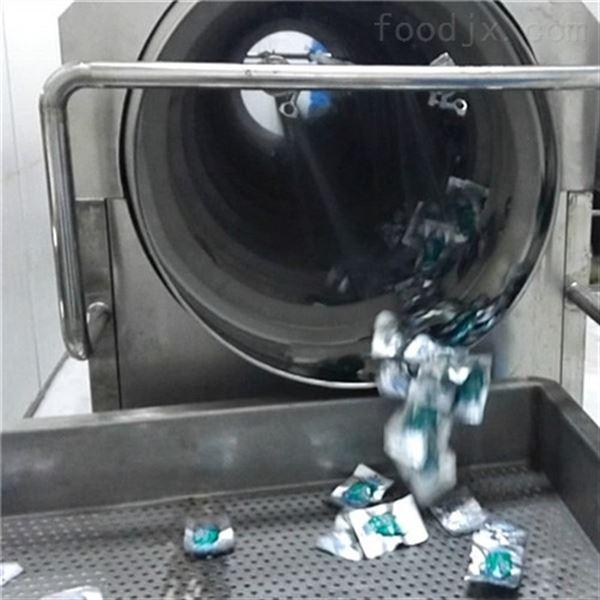 酱菜食品软包装滚筒式毛刷洗袋机