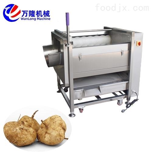 地瓜清洗机红薯地瓜脱皮机 大型土豆去皮机