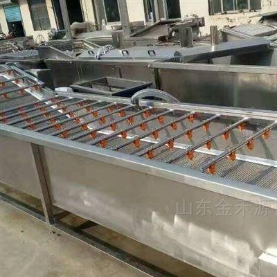 JHY3000蔬菜气泡清洗流水线省人工
