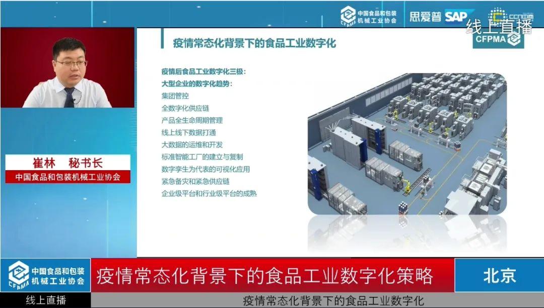 中国食品和包装机械工业协会成功举办在线研讨会直播活动